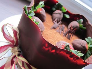 Forty Weeks: Food: Strawberry Black Forest Cake