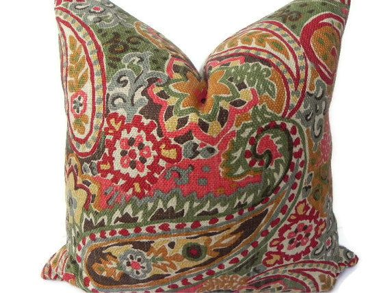 Paisley Decorative Pillows Decoration For Home Enchanting M Kennedy Home Grand Paisley Decorative Pillow