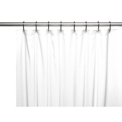 Ben And Jonah Vinyl 3 Gauge Shower Curtain Liner With Weighted Magnets And  Metal Grommets Color