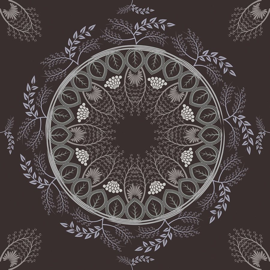 Wallpaper iphone mandala - Boho Mandala Deep Red Removable Wallpaper