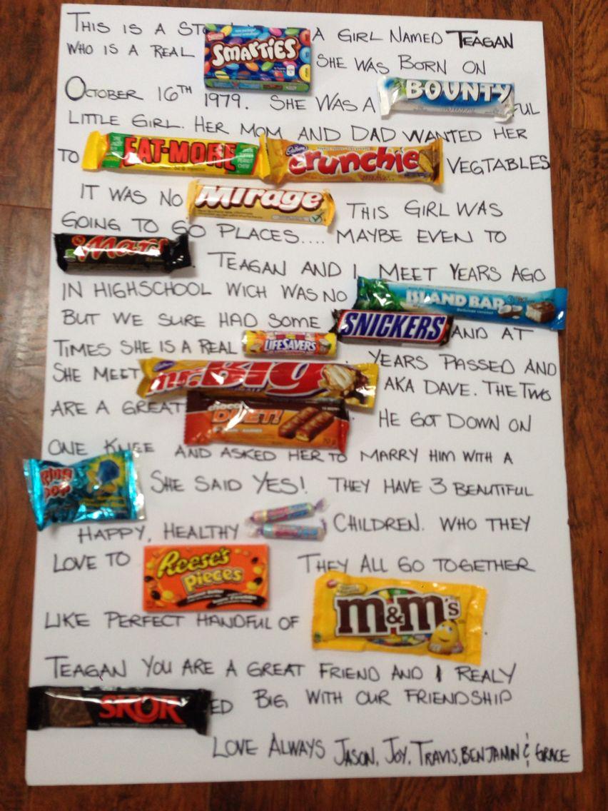 Chocolate bar birthday message. | My Pinterest attempts ...