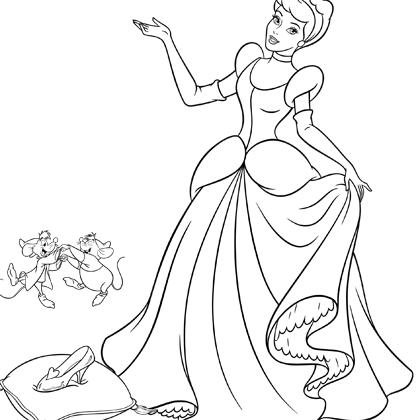 Coloriage Cendrillon Et Son Soulier Disney Kleurplaten Assepoester Verjaardag Kleurplaten