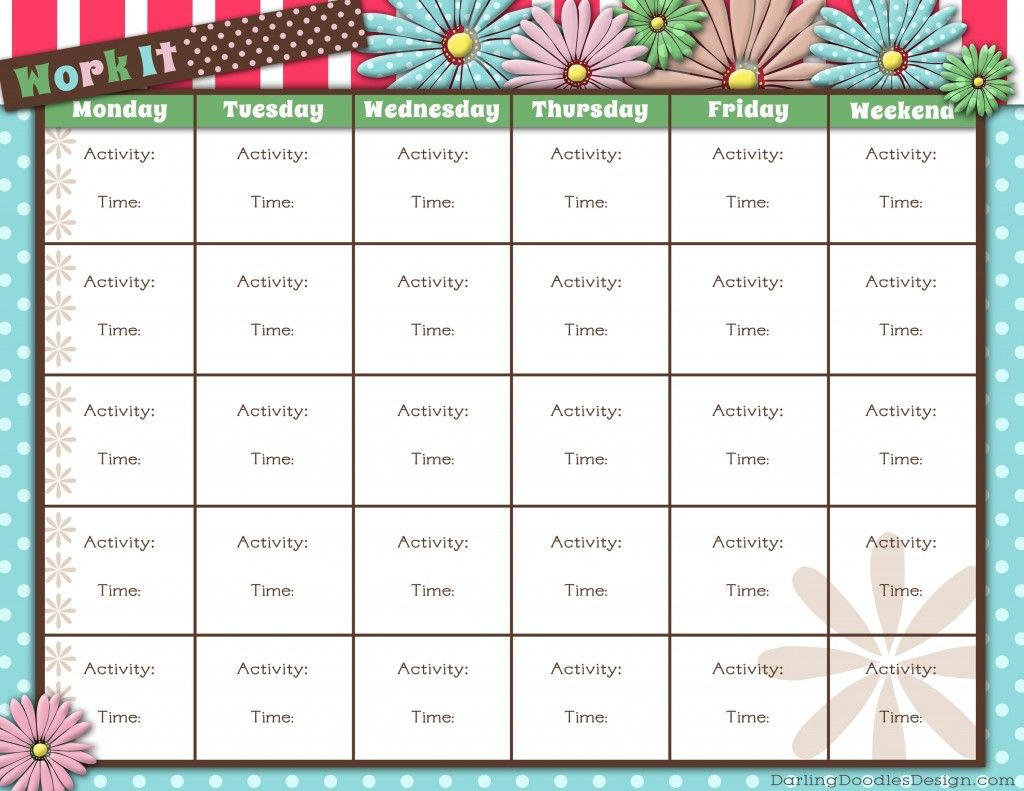Free Printable Workout Tracker