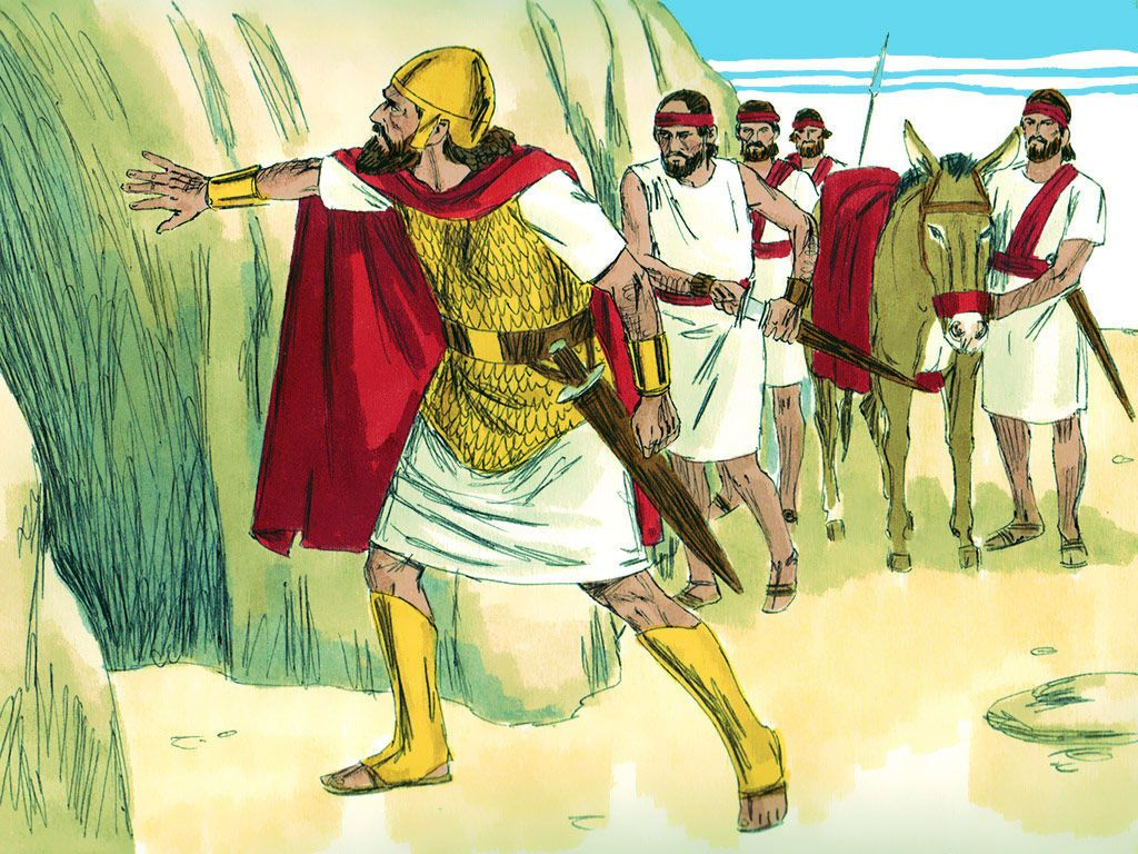 David And His Men Were Hiding In A Cave King Saul Needed