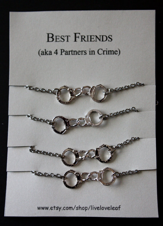 Best Friends 4 Ever Four Matching Bracelets For By Liveloveleaf