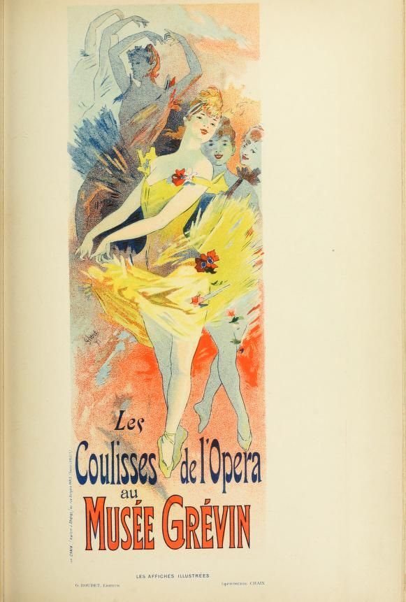 Les Coulisses De L Opera Paris Art Vintage Posters Italian Art