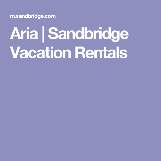 Aria Sandbridge Vacation Als
