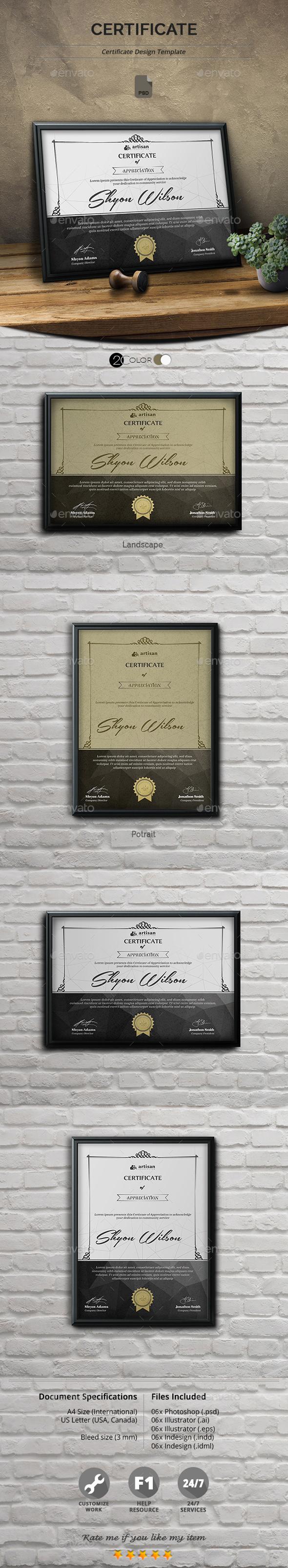 Certificate template psd resume templates pinterest certificate template psd yadclub Images