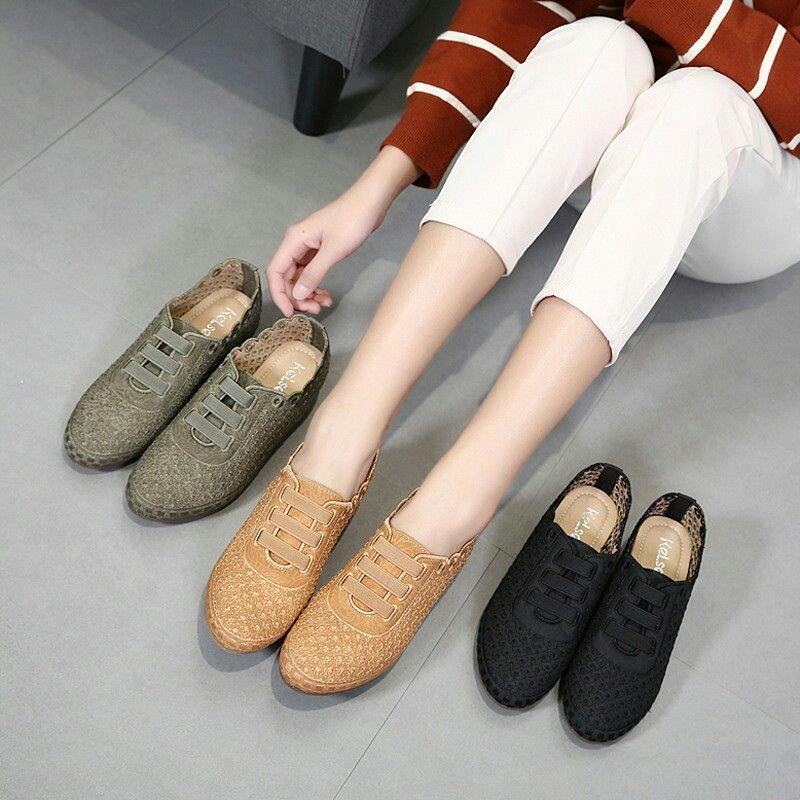 Sepatu Merek Kelsey M402 888 63 Wedges 4 Cm Bahan Kulit Di