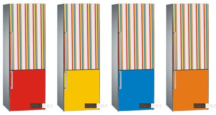 Ejemplo de personalizaci n de vinilo decorativo rayas for Vinilos adhesivos para frigorificos