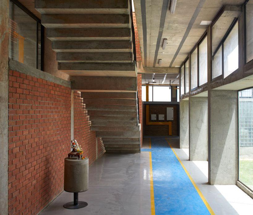 Sameep Padora Concrete Void Factory Concrete Brick Interior Architect