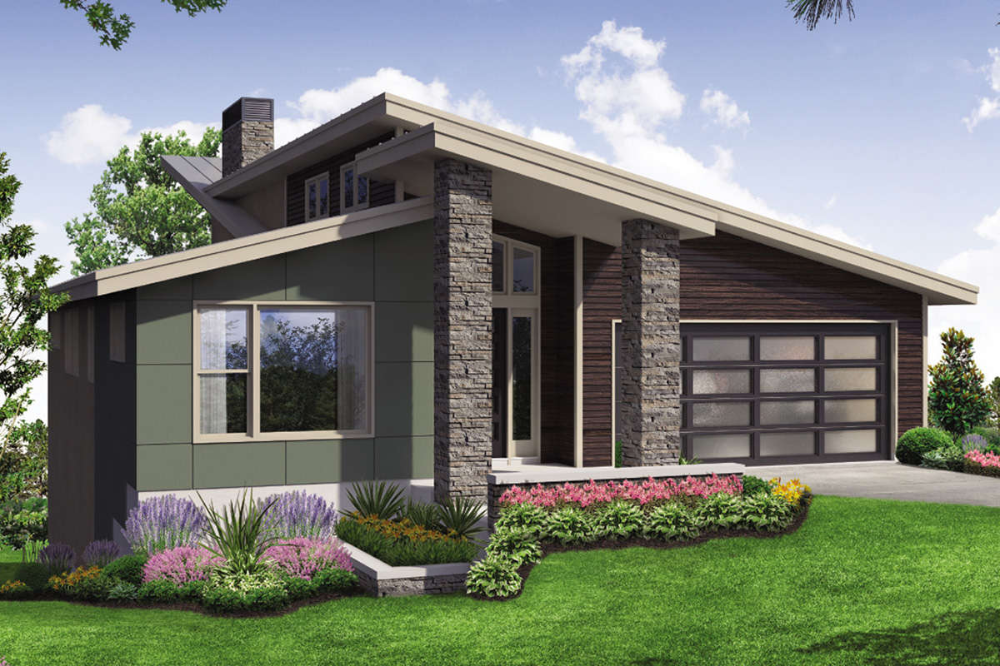 House Plan 035 00833 Contemporary Plan 2 928 Square Feet 4 Bedrooms 3 Bathrooms In 2021 Prairie Style Houses Contemporary House Plans Modern Farmhouse Plans