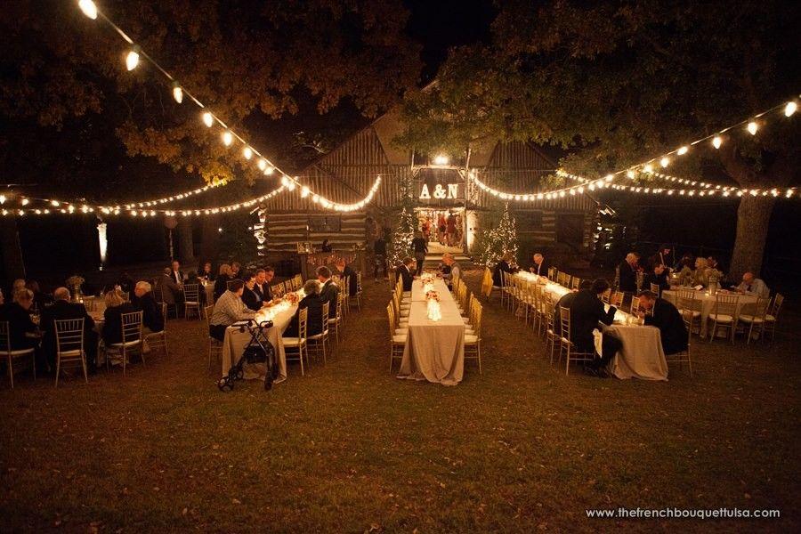 Outdoor Rustic Weddings Romantic Evening Wedding