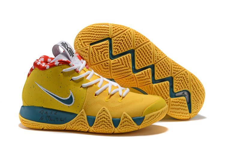 the best attitude 3ac09 89ba2 2018 Nike Kyrie 4 Yellow Lobster PE Shoes To Buy