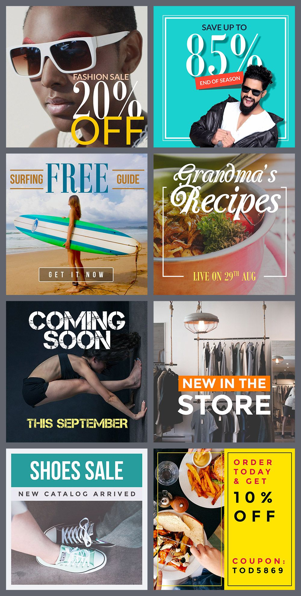 Free Instagram Banners Templates More
