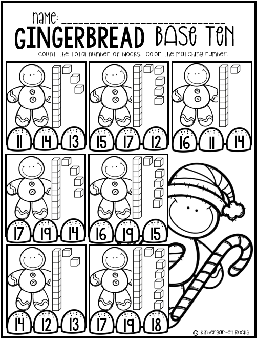 Gingerbread Math and Literacy Worksheets and Printables