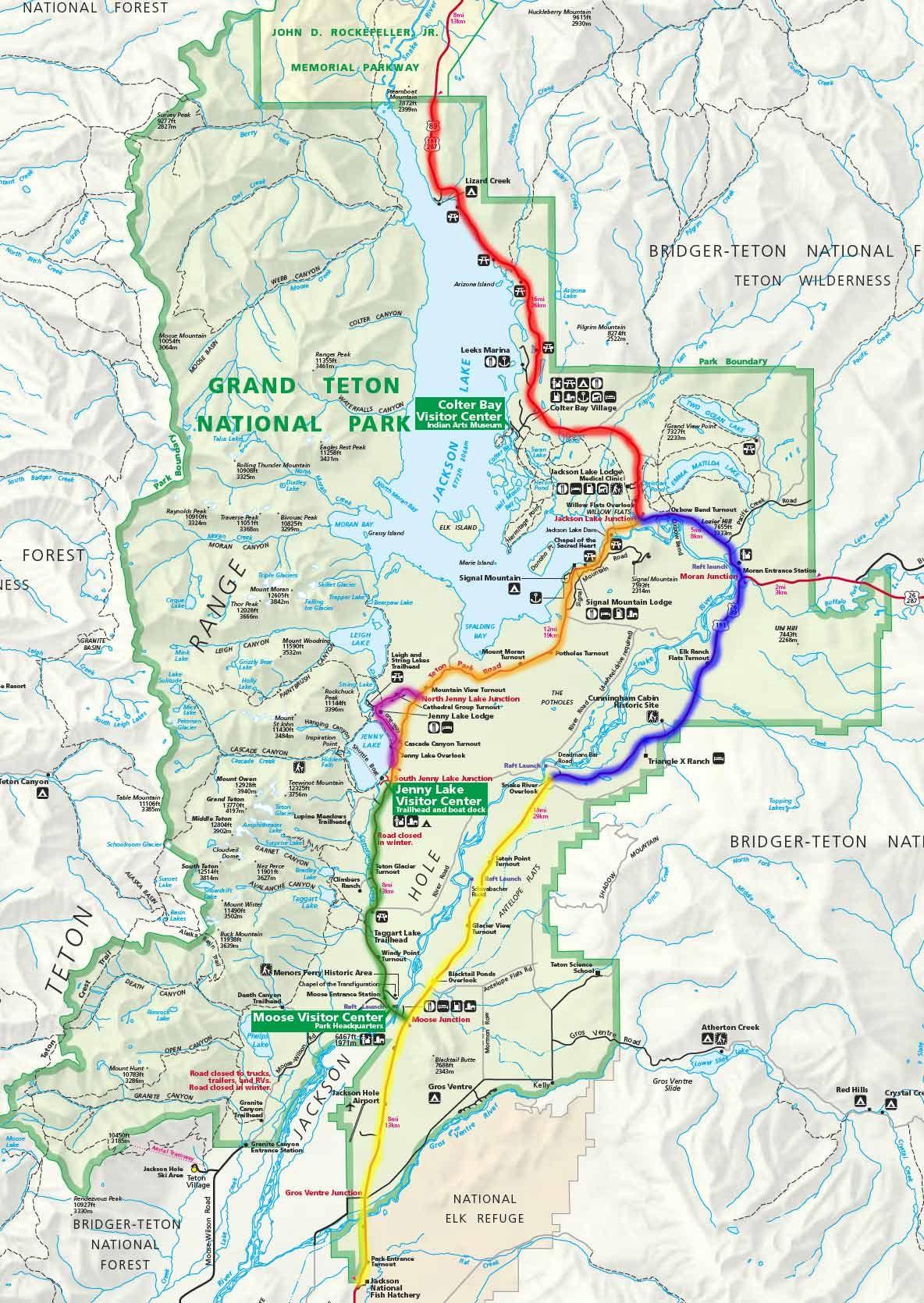 Stunning Grand Teton National Park Map