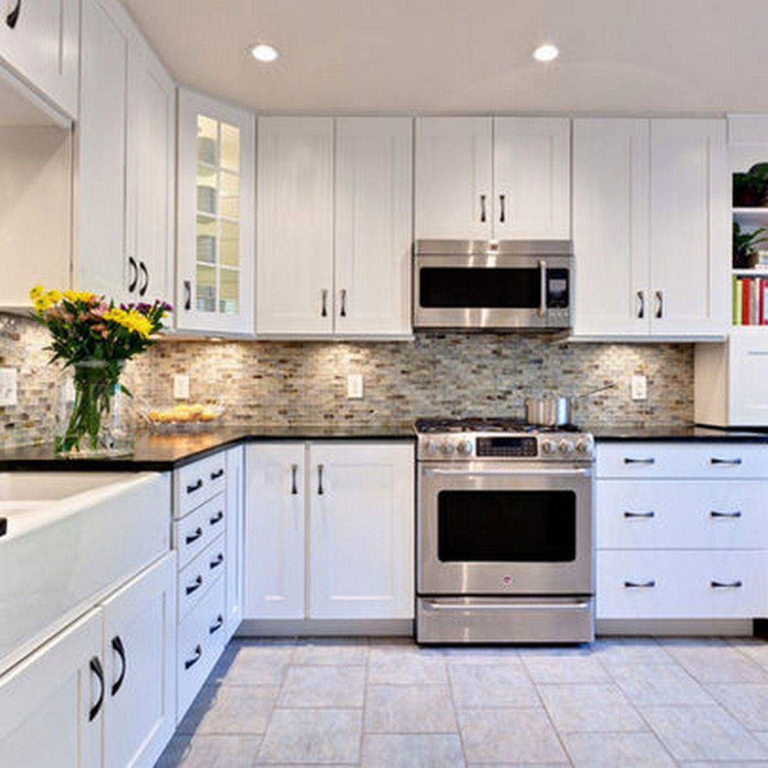 55 white cabinets black countertops kitchen decor theme ideas check more at http white on kitchen cabinets not white id=42726