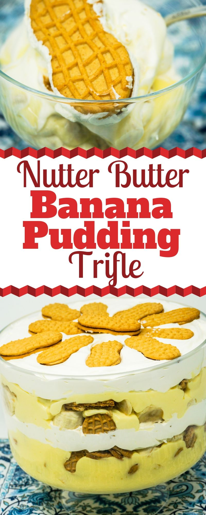 Nutter Butter Banana Pudding Trifle Recipe Banana Pudding Trifle Banana Pudding Cold Desserts