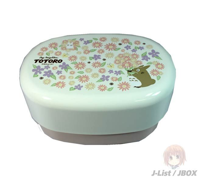 Totoro Lacquered 2-tier Bento Box w/Elastic Band ~ Flower Garden