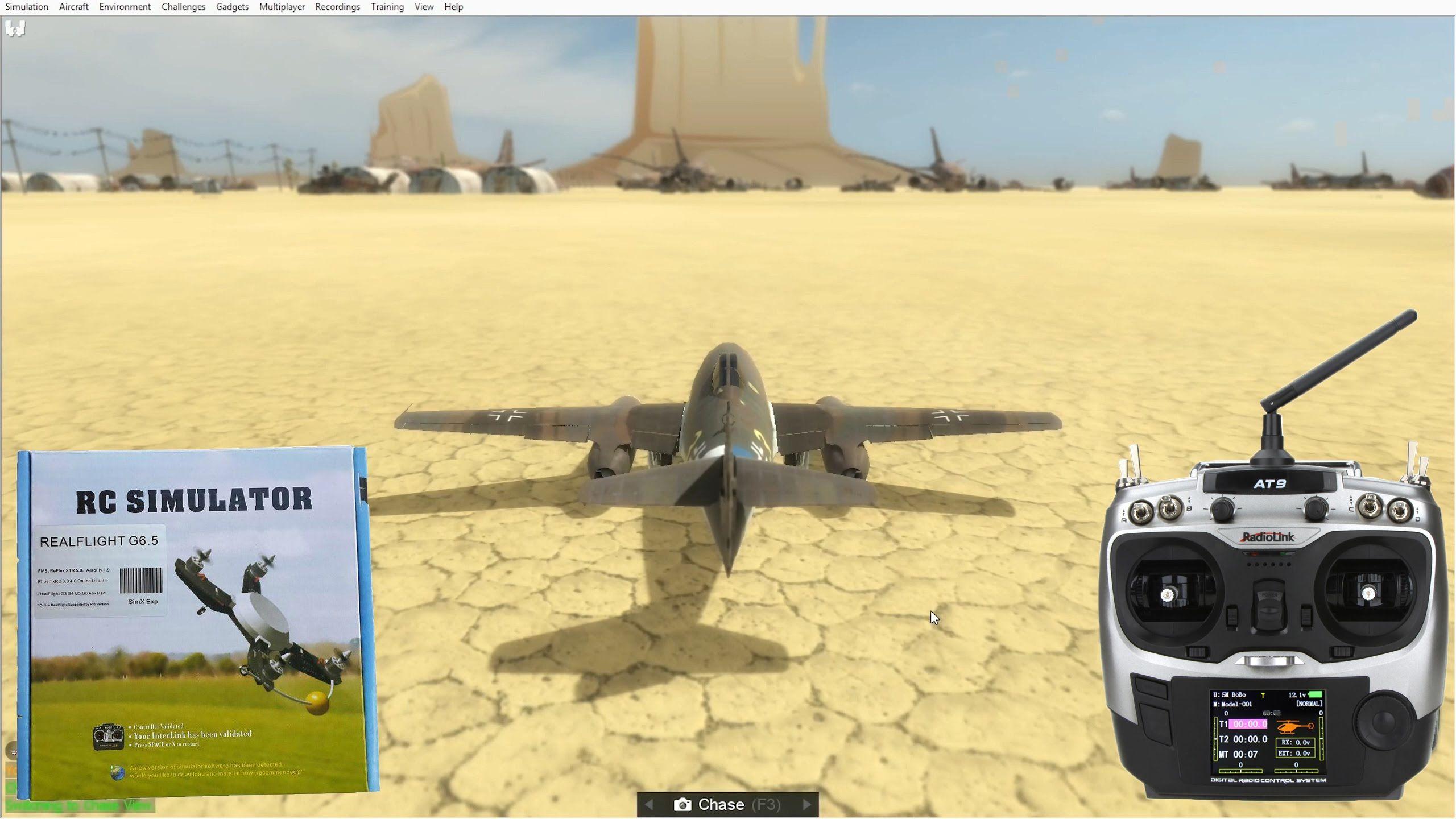 RC Simulator (PhoenixRC, RealFlight) + Radiolink AT9
