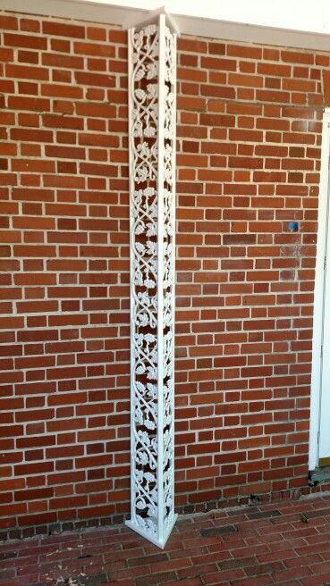 Custom Made Wrought Iron Porch Roof Column Made By Www Villagecraftiron Com In State College Pa Porch Columns Wrought Iron Furniture Porch Roof