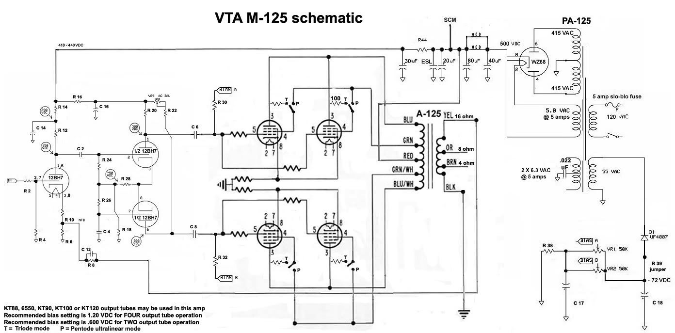 Prototype 125 watt monoblock tube amplifier KIT Page 2