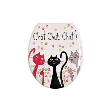 Abattant Wc Chat Chat Chat Coloris Multicolore Abattant Abattant Wc Wc Leroy Merlin