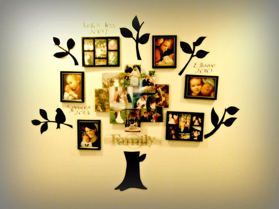 Family Tree, Branches, Family Wording & Birds - homemade; love it ...