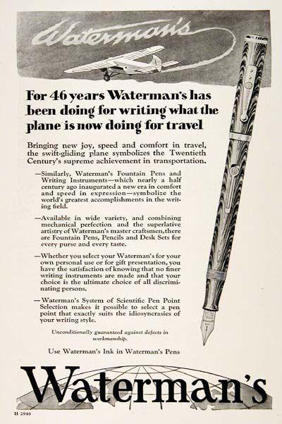 1929 Watermans Pen 003283 Beautiful Pens Pinterest
