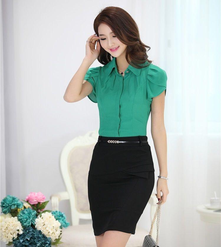 venta minorista 03061 c8a8d Modelos de faldas y blusas formales | Faldas | Moda formal ...