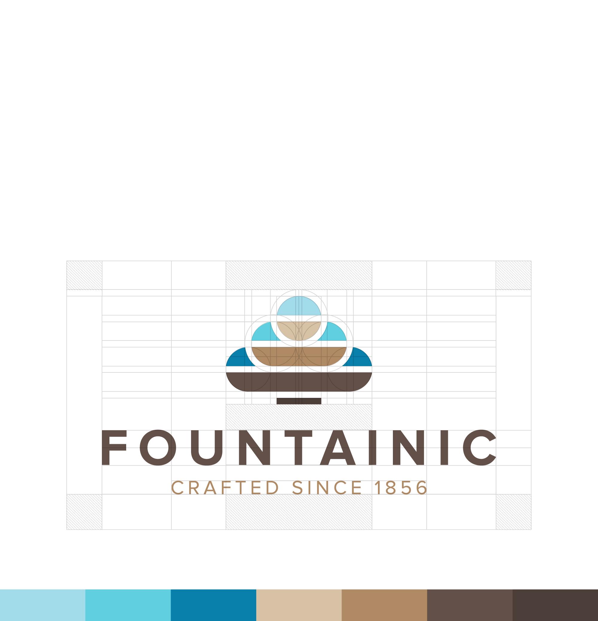 """다음 @Behance 프로젝트 확인: """"Fountainic - Identity Design."""" https://www.behance.net/gallery/41375301/Fountainic-Identity-Design"""