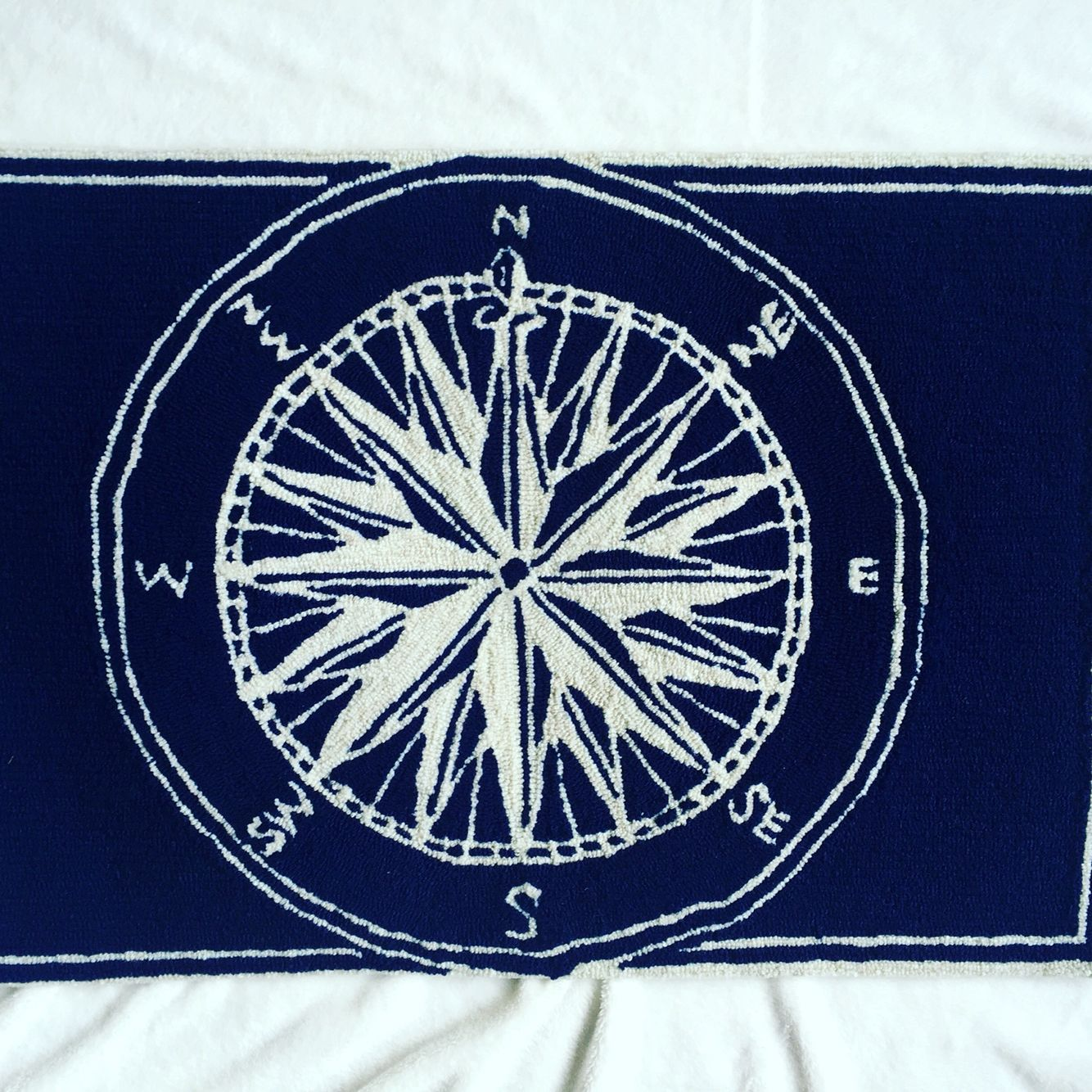 Nautical rugs for bathroom - Compass Rise Nautical Rug From Kohl S For Master Bathroom