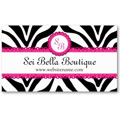 Zebra print pink lace monogram business cards products i love zebra print pink lace monogram business cards reheart Choice Image