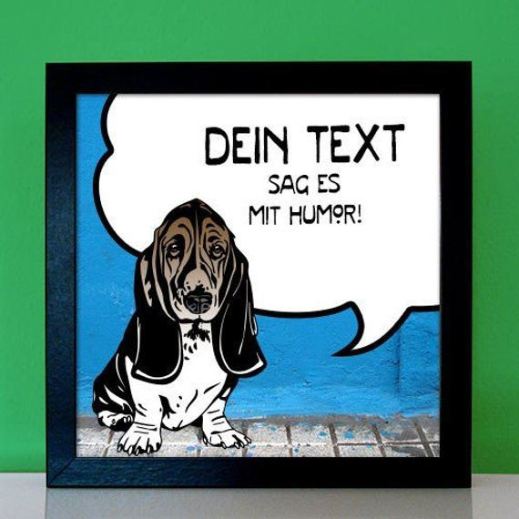 Personalisierbares Geschenk für Basset Hound Freunde und ...