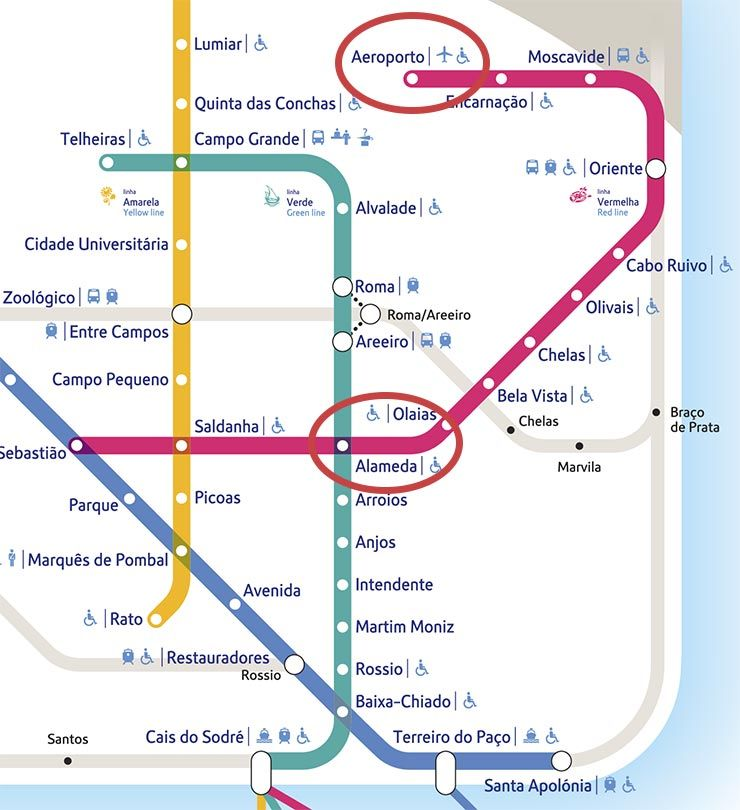 anjos lisboa mapa Como ir do aeroporto de Lisboa ao centro: metrô, táxi e ônibus  anjos lisboa mapa