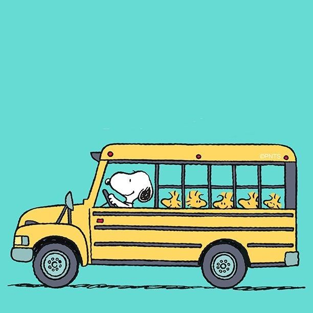 Snoopy Peanuts Notepad Blue Bus