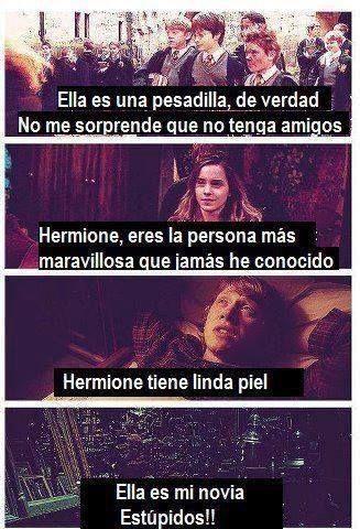 Ron Hablando De Hermione Del Odio Al Amor Hay Una Linea Delgada