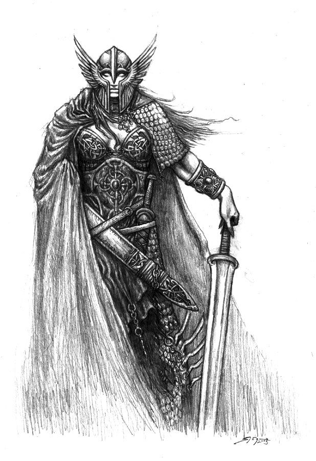 Valkyrie Viking tattoos, Norse tattoo