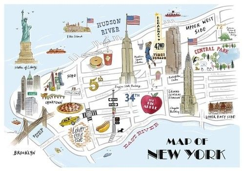 17 Best images about New York City InfoGraphics Maps Misc on – Street Map New York City