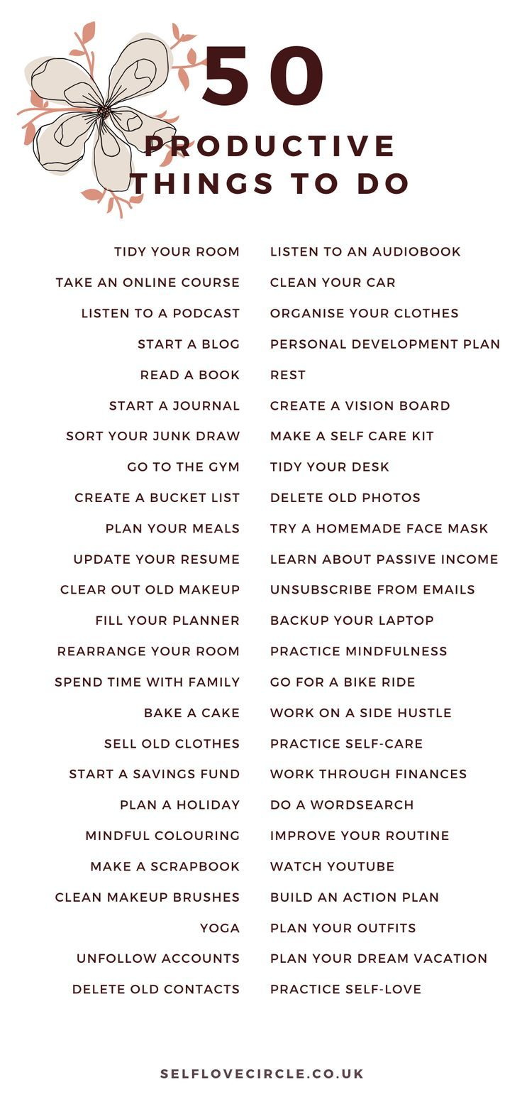 50 Productive Things To Do When You're Bored