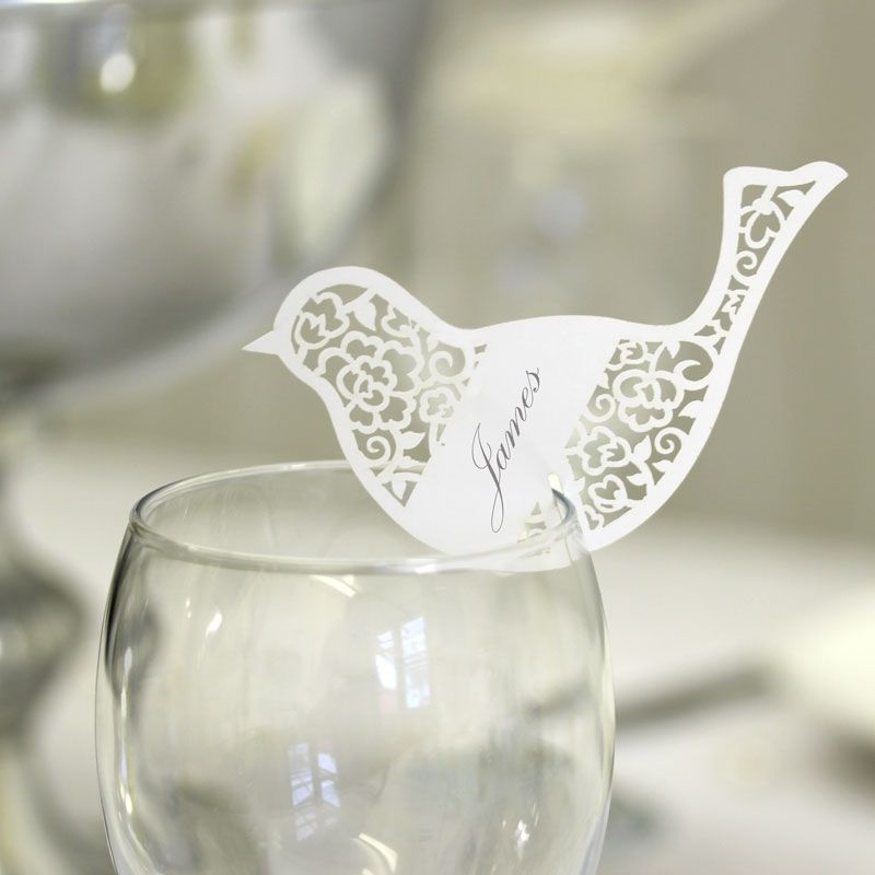 bird laser cut place card wedding mall wedding decorations table favours wedding table name place card