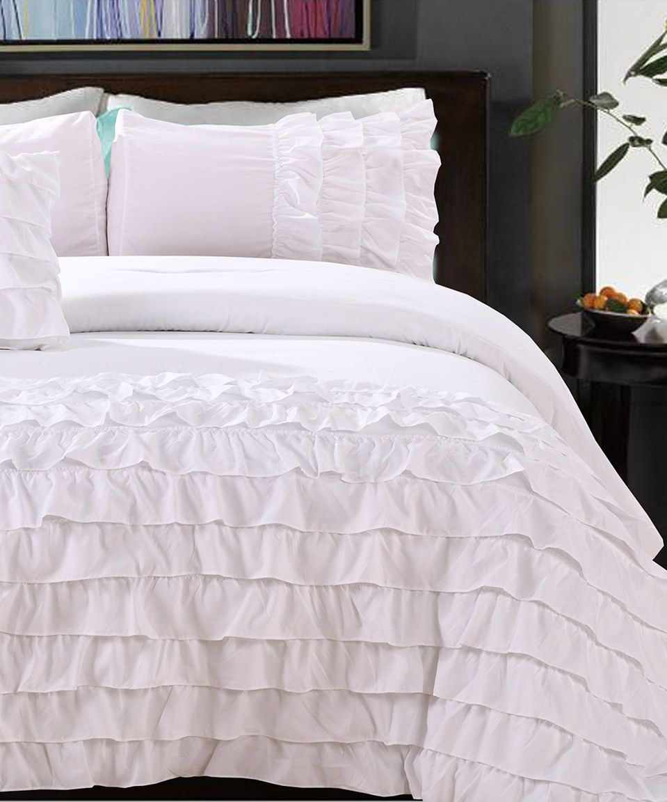 Love this white flamenco taylor comforter set by on zulily