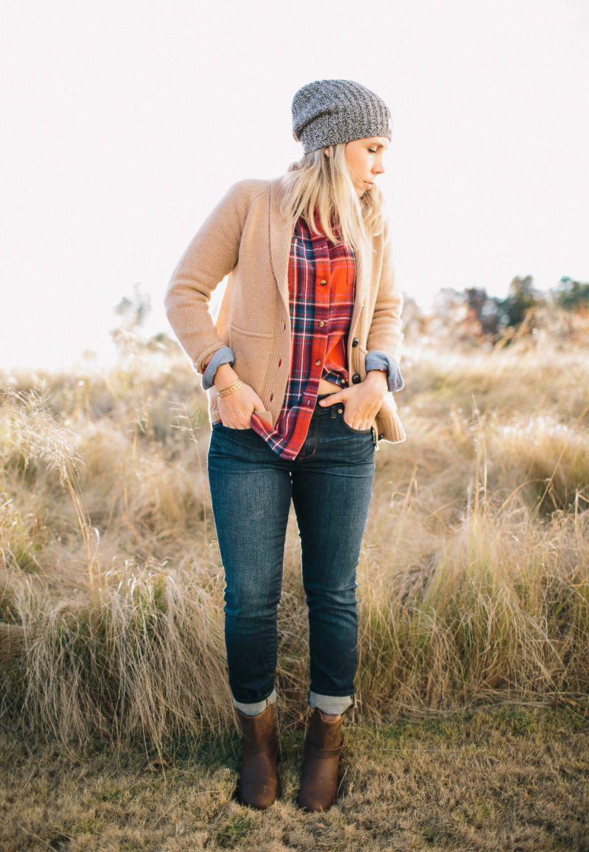 Red flannel around waist  Flannel in the Fields  Stitch Fix  Pinterest  Flannels Madewell