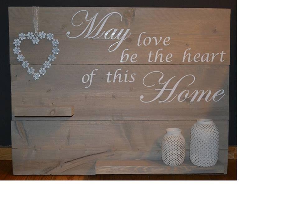steigerhouten wandbord met tekst, verkrijgbaar bij Made by hart