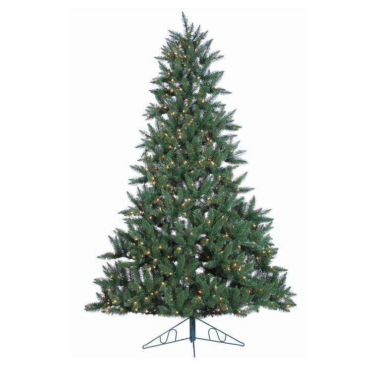 D18 7 5 Ft Half Wall Christmas Tree With Clear Lights Wall