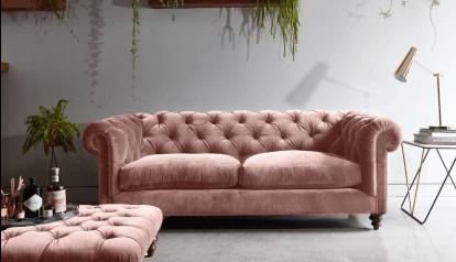 Stirling Sofa Blue Carpet Bedroom Elegant Sofa