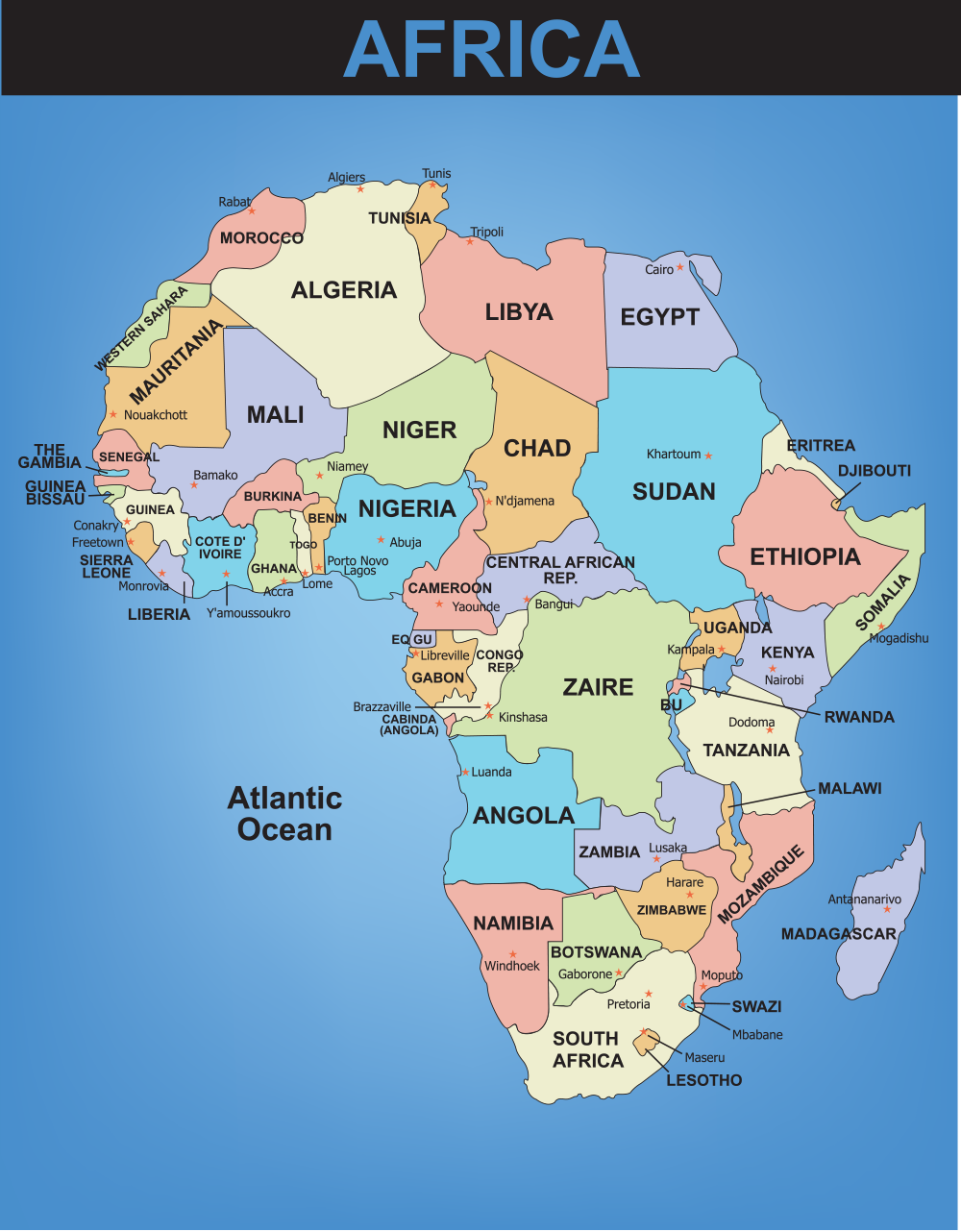 map of africa with capital cities      Free Wallpaper for MAPS   Full Maps Africa Maps Maps of Africa OnTheWorldMap com Africa Map African Country  Capitals Map Quiz Large K Political Map of Africa Africa Political Map US  Map
