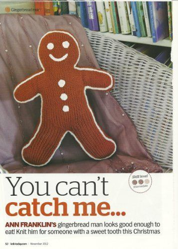 You Cant Catch Me Ann Franklin Gingerbread Man Toy Knitting Pattern