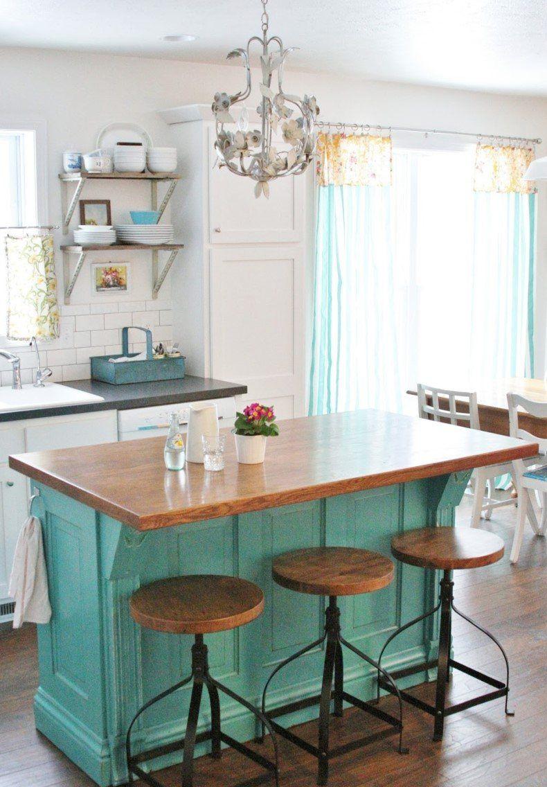 Cottage kitchen island in interior decoration pinterest